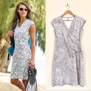 {Athleta} Nectar Paisley Faux Wrap Dress